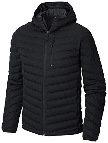 Mountain Hardwear Mens Quilted Down Jacket, S, Black