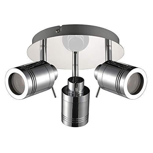 IMPTS LED Decken-Strahler 3W Badlampe 3-flammig warmweiß 3000k 280lm Decke Badleuchte IP44 Wasserfest Badezimmerlampe ideal für Badezimmer Wohnzimmer