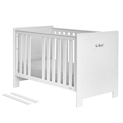 Kinder Bett Bettchen Babybett Tagesbett Kinderzimmerbett 140x70 MARSYLIA MDF weiß