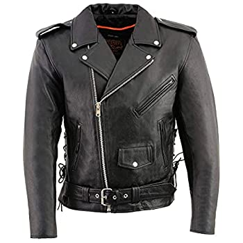 Milwaukee Leather Men's Classic Police Style Motorcycle Jacket