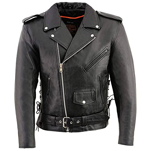 Milwaukee Leather SH1011 Motorcycle Leather Jacket