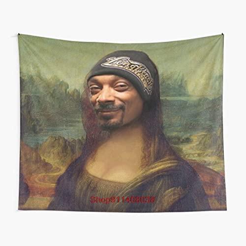 Chrty Tapiz, Snoop Dogg Mona Lisa, Tapiz de brujería, decoración Bohemia, Muebles para el hogar, Hippie (150 * 130 cm)