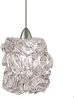 WAC Lighting MP-LED544-CL/BN Candy LED Pendant Fixture with Brushed Nickel Canopy, One Size, Clear