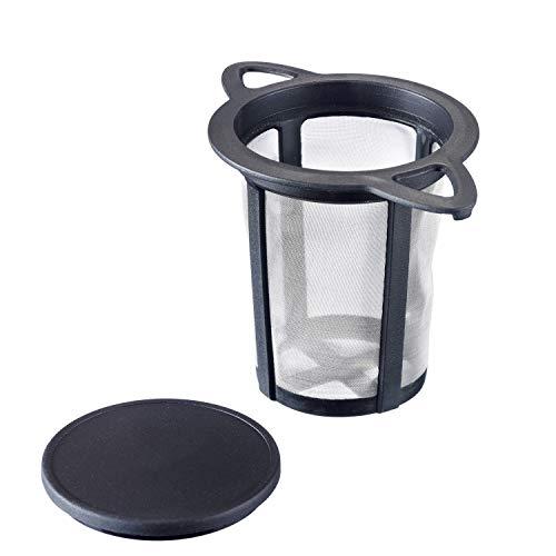 Westmark Filtro per tè/Poggia-bustine, Con coperchio/sgocciolatoio, Teatime, Plastica e acciaio inox, 11 x 7,2 cm, 15752260