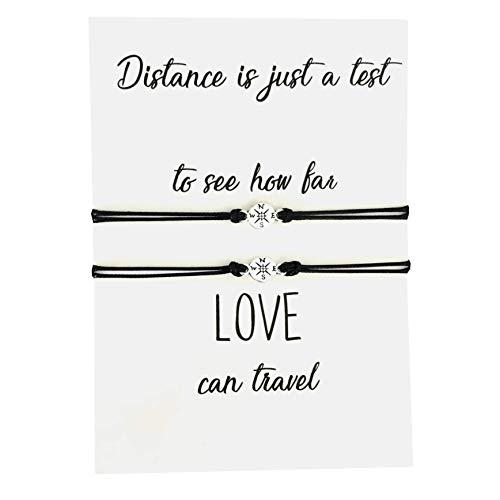 Long Distance Love Compass Bracelets