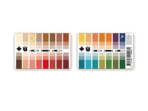 Handlicher Karten-Farbpass Herbst-Frühling (Warm Autumn) aus Plastik mit 30 typgerechten Farben zur Farbanalyse, Farbberatung, Stilberatung