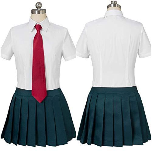 LACKINGONE Boku No Hero Academia My Hero Academia Ochako Uraraka Tsuyu Asui Abito Uniforme Estivo Costume Cosplay Signore