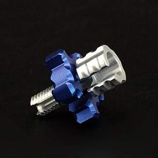 REFURBISHHOUSE Cloche dembrayage Les Chaussures Portant Volant 14T Ensemble de Montage Set Springs Cone Engine Nut pour Voiture T/éL/éCommand/éE 1//8 HPI HSP Axial Himoto Bleu + Argent