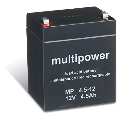 Powery Batería Plomo (multipower) MP4,5-12 Compatible con FIAMM Modelo FG20451