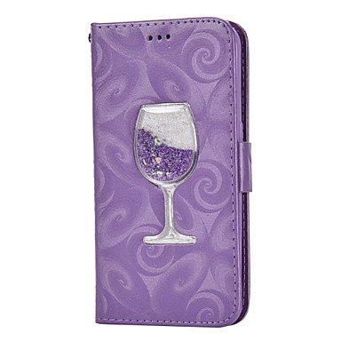 Proteggi Il Cellulare, Custodia in Pelle PU per Samsung Galaxy Case Cover per Samsung Galaxy (Colore : Viola, Modello Compatibile : Galaxy S5)