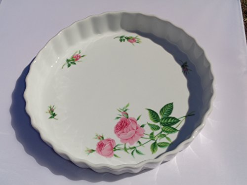 Christineholm Ceramic Quiche Dish/Pink Roses
