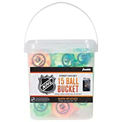 "Official size: Standard weight, regulation size 2 5/8"" street hockey balls High density: Designed with high density materials to ensure low bounce and increased roll Warm weather balls: These balls are designed for use above 32 degrees NHL Official: ..."
