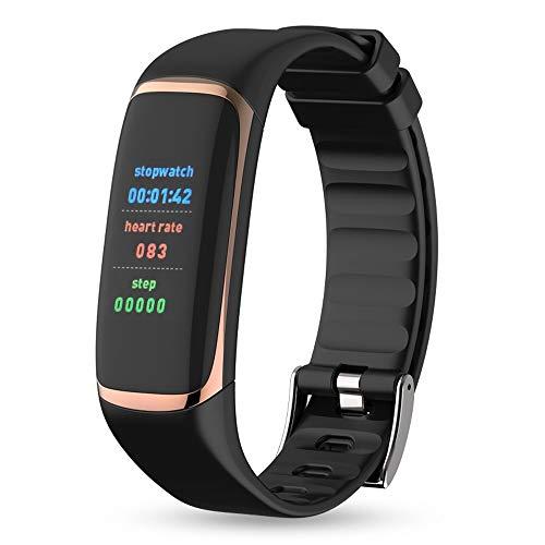 Jian Lin Blutsauerstoffsättigung Herzfrequenz Schlafmonitor Bluetooth Sportuhr Männer und Frauen Bluetooth Uhr Wasserdicht Laufen Schrittzähler Herzschlag Puls Gesundheit Senioren Uhr Multi-Color Opti