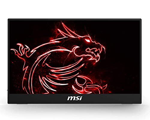 MSI Optix MAG161V - Monitor portátil de 15.6', FullHD 60Hz (1920 x 1080, pantalla plana, panel IPS, ratio 16:9, brillo 180 nits, Anti-glare) negro