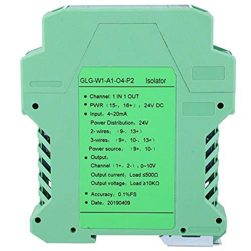 Stromwandler-Messumformer, 24-V-DC-Messumformer zur Stromisolierung für Industrieanlagen, Großmotoren, medizinische Geräte, 1-in-1-Ausgang und 1-in-2-Ausgang(1 in 1 out,4-20mA to 0-10V)