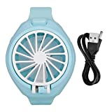 Ventilador con Forma de Reloj para niños, Ventilador de Mano Mini Ventilador portátil con Forma de Reloj para Viajes en casa al Aire Libre en Verano(Azul)