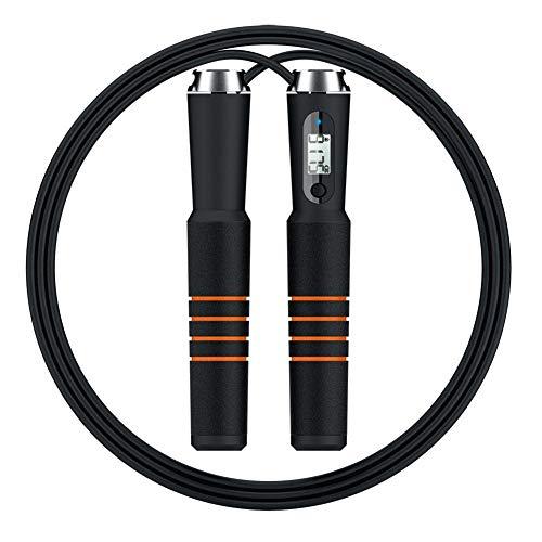 UQstyle Smart Bluetooth Corde à sauter Fitness professionnelle Corde de vitesse réglable pour femme et homme adulte Poignées en mousse Poignées boxe, maman, fitness, entraînement, crossfit