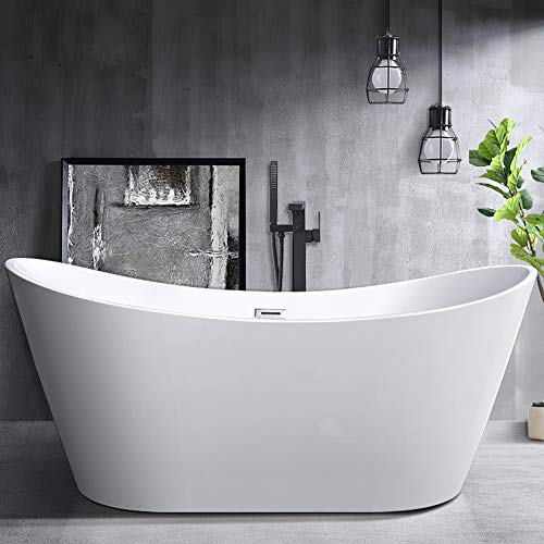 Great Features Of Vanity Art 70-Inch Freestanding Acrylic Bathtub | Modern Stand Alone Soaking Tub w...