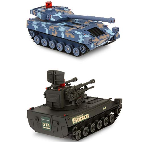 FNCUR RC 2.4g 1:14remote Control Car Battle Tank Remote Control Car Model Off-Road Vehicle Children's Toy Car Arm Toys for Boys Best Gifts for Christmas (Two Packs)