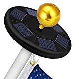 Solar Flag Pole Light 111 Led Solar Powered Flag Pole Light Ultra Bright Full Coverage Flagpole Downlight for Most 15 to 25 Ft Poles-Auto ON/Off Weatherproof 5x Brighter Fits 0.5' Wide Flag Ornament