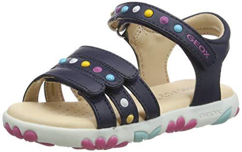 Geox J Haiti Girl Sandal, Navy BC, 28 EU