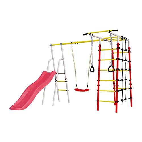 Gardenluxus Swing and Slide mit Plastiksitzschaukel, 51577