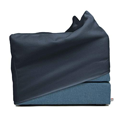 Arketicom Italian Faltmatratze TOUF, The Bed That Becomes a Puff, Blue Jeans Fabric Base and External Cover Electric Blue 80x63x45 cm Artisans Italian Product 100% Hand Made