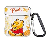 iFiLOVE Compatible with Airpods Case, Girls Boys Kids Airpods Cover, Cute Cartoon Winnie The Pooh Slim Ultra-Thin Soft Protective Case Cover with Clip for Airpods Case 2 & 1 (Winnie The Pooh)