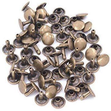 Trimming winkel 100 stuks 7mm dubbele pet buisvormige klinknagels DIY riemen sporen studs