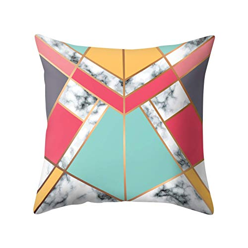hgdfhfgd Funda de Almohada Tienda Pensamiento geométrico Nordic Geometric Marble Throw Pillow Case Sofá Cama Decoración para el hogar Funda de cojín 15#