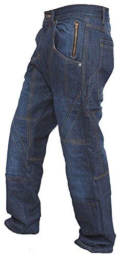 Tessuti denim pesanti e resistenti 14oz usati per la costruzione di jeans Che forniscono protezione contro il calore, il taglio e l'abrasione. Fodera di protezione Utilizzata in questi jeans ha coperto più aree rispetto agli altri jeans disponibili s...