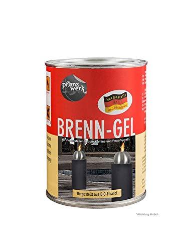 Pflanzwerk® Macetero Bola de Fuego Gel DE COMBUSTIÓN Premium *Bioetanol* *Libre de hollín* *Libre de Humo* *Producto de Calidad Alemana*
