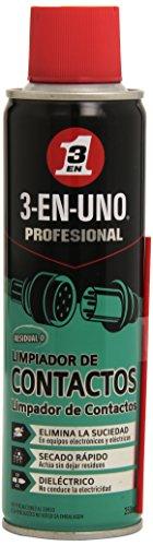 3 EN UNO Profesional 34474 - Limpiador de Contactos en Spray, Incoloro - 250 ml