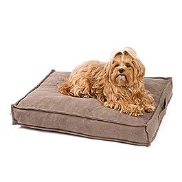 JAMAXX Premium Dog Cushion Orthopaedic Soft Memory Foam Washable Moisture Protection Water-Repellent Thick Filling Visco Elastic Fluffy Velvet Fabric Dog Bed PDB1001