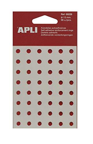 APLI 229 - Arandelas de refuerzo translúcidas 13 mm 240 u.