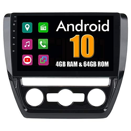 Roverone 10,2 Pouces Android 6.0 Octa Core Autoradio lecteur GPS de voiture pour VW pour Volkswagen Jetta 2011-2015 avec navigation radio stéréo Bluetooth Mirror Link Full écran tactile