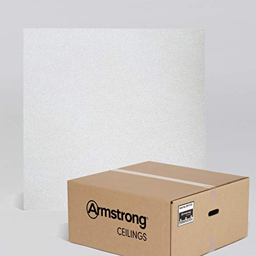 Armstrong Ceiling Tiles; 2x2 Ceiling Tiles – HUMIGUARD Plus Acoustic Ceilings for Suspended Ceiling Grid; Drop Ceiling Tiles Direct from the Manufacturer; DUNE Item 1772 – 16 pcs White Lay-in