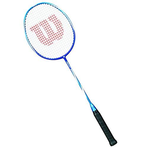 Wilson WRT8619004 Raquette de Badminton, Recon 350, Unisexe, Taille du Manche: 4, Équilibre en Tête, Bleu