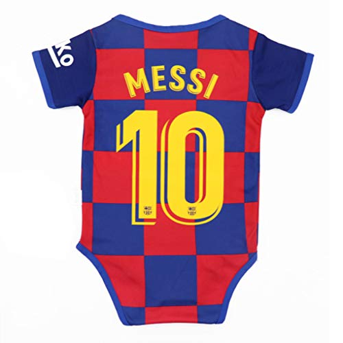 Babyjs Barcelona #10 Messi Bodysuit Soccer Fan Baby Creepers & Rompers Jumpsuit Onesie for 0-9 & 9-18 Monthes Infant Toddler Suit