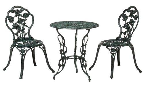 タカショー(Takasho) テーブルセットローズ 青銅色 60φ /A(テーブル1台、チェアー2脚) SGT-15VN