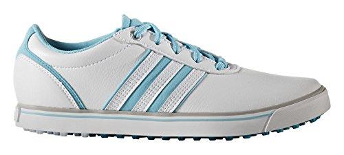 adidas Damen Adicross V Golfschuhe, Weiß (White/Blue Glow/Energy Blue), 38
