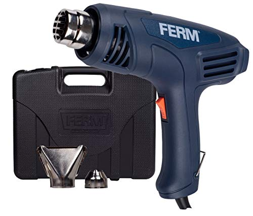FERM Décapeur thermique 2000W - 2 niveaux de température : 450 ° C et 600 ° C - 2 embouts inclus