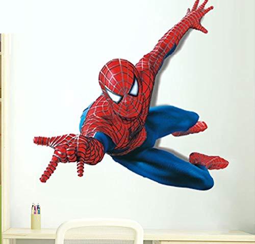 Adhesivo de pared extraíble con diseño de Spiderman Boy para el hogar, para decoración de la habitación de los niños