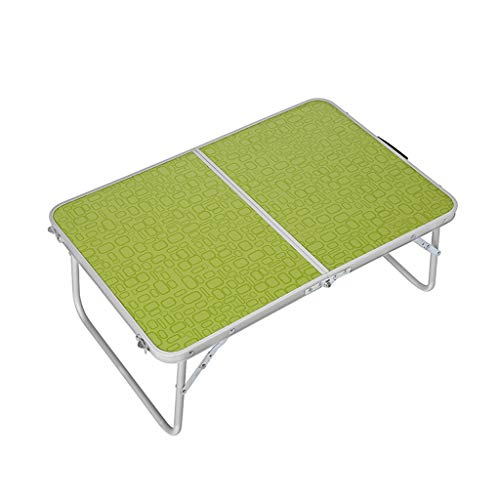 Tables de chevet Table d'extérieur Table Pliante Bureau d'ordinateur (Color : Green, Size : 70 * 70 * 70 cm)