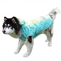 konkawa ペットレインコート 中型 大型犬 高い レインコート ジャケット 大きめ シンプル 2カラー S-XXL (M, GREEN)