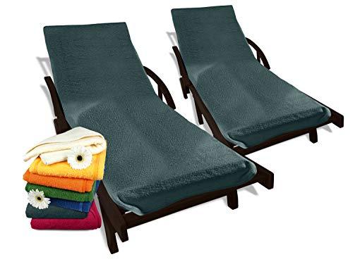 Dyckhoff Doppelpack Schonbezüge für Gartenstuhl & Gartenliege 277.297, Gartenliege (70 x 200 cm), grau