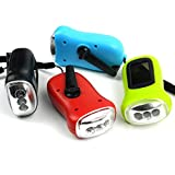 HAMISS Portable LED Hand Crank Dynamo Flashlight Torch Outdoor Camping Mountaineering Night Linternas