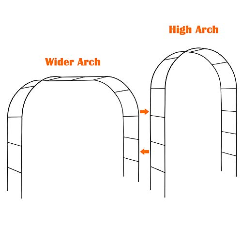 Mr. Ton Garden Arch, Wedding Arch, Garden Arbor Pergola for Indoor/Outdoor Lawn Garden Various Climbing Plants, 7'8' High x 4'5' Wide
