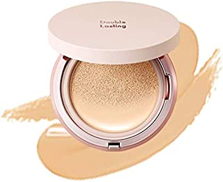 ETUDE HOUSE Double Lasting Cushion Glow (N21 Neutral Beige) | 24-Hours Lasting Cushion with a Radiant Natural Finish