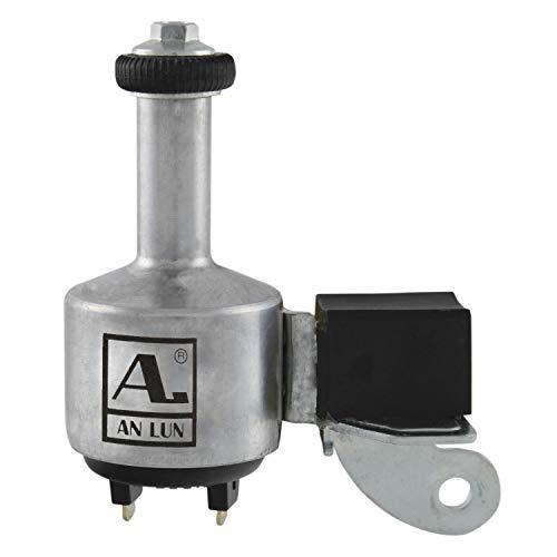 Anlun Unisex– Erwachsene Aluminium-Dynamo, mit deutschem Prüfzeichen, 6V/3W, Links, Silber